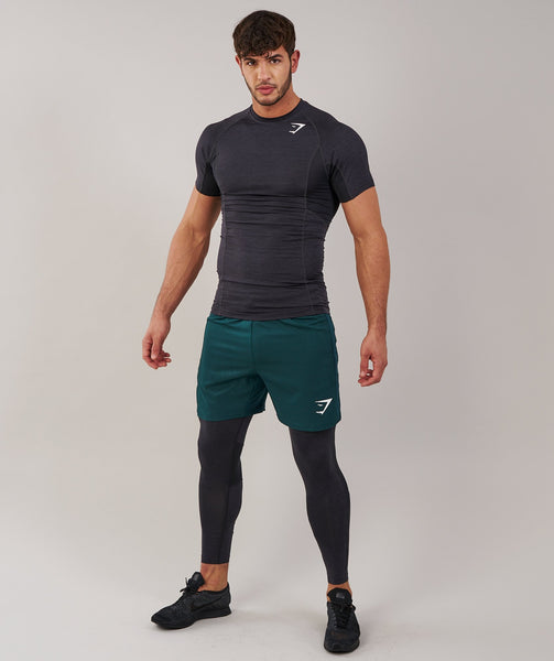 Gymshark Element Baselayer Leggings - Black Marl 3