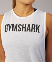 Gymshark Side Tie Vest - White