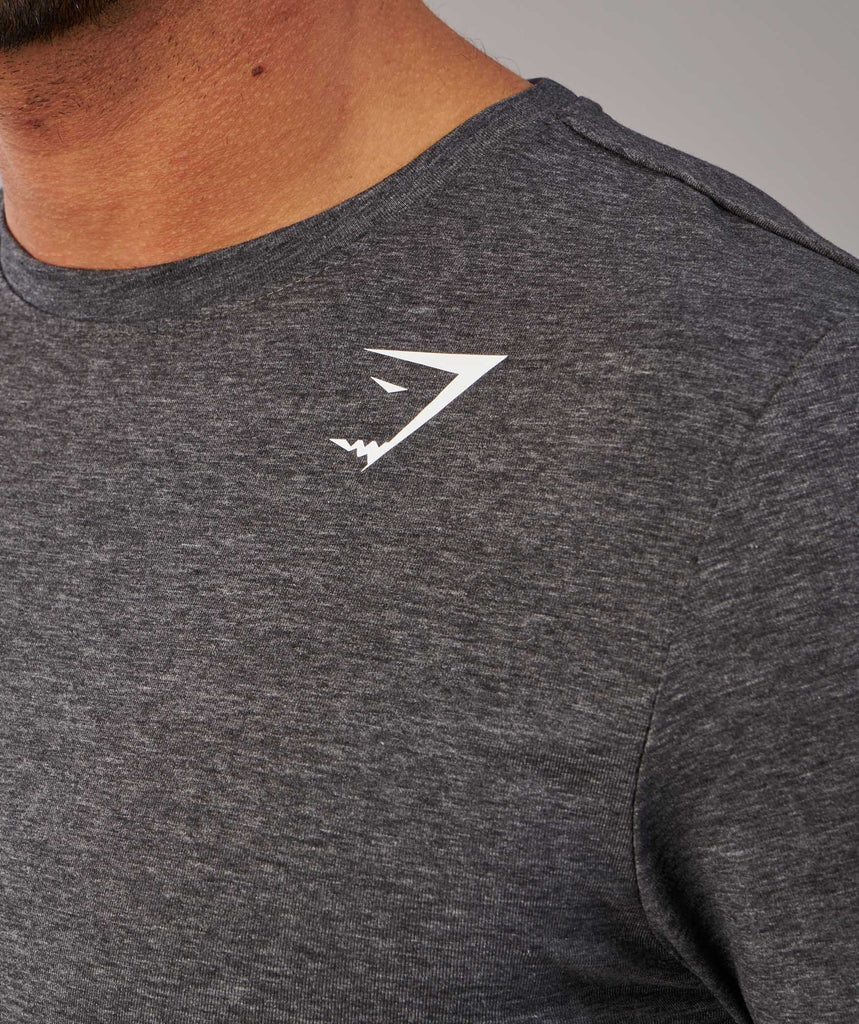 Gymshark Ark Long Sleeve T-Shirt - Charcoal Marl 5
