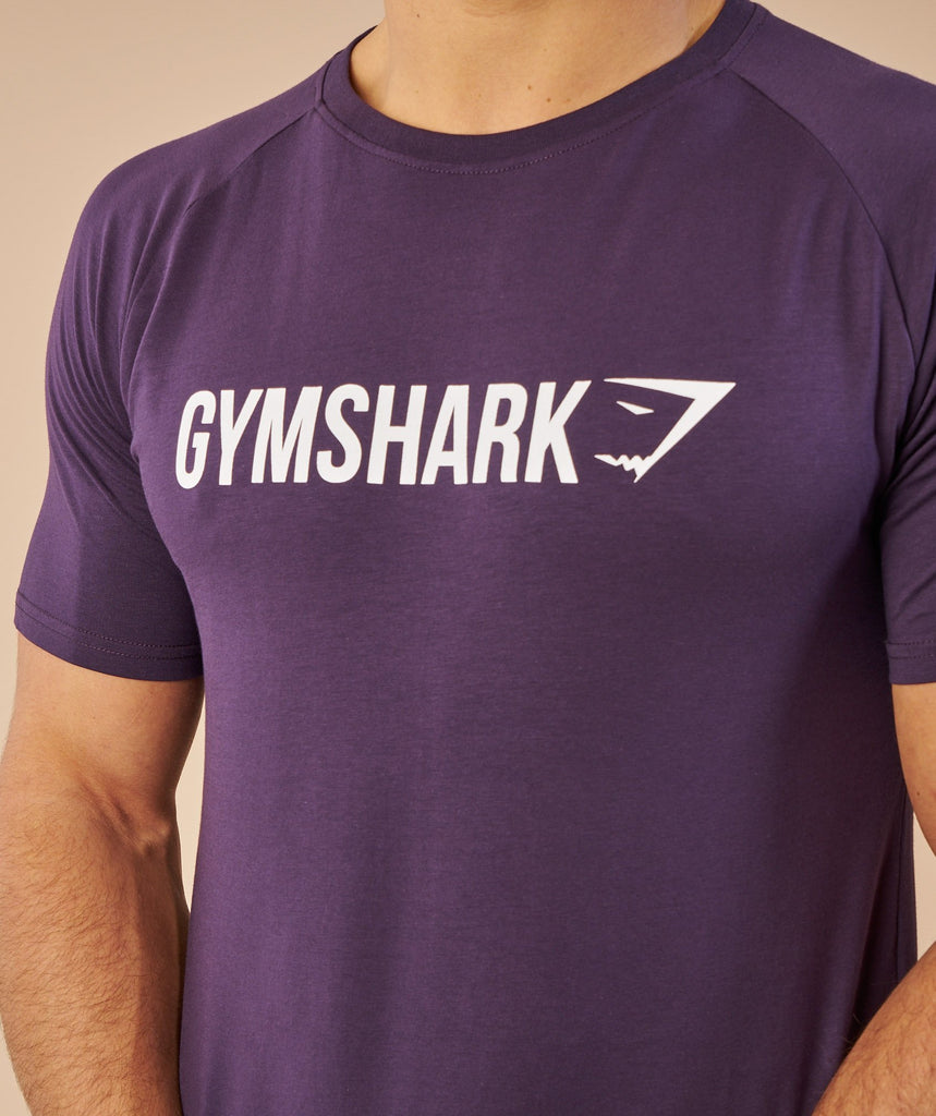Gymshark Apollo T-Shirt - Nightshade Purple/White 6