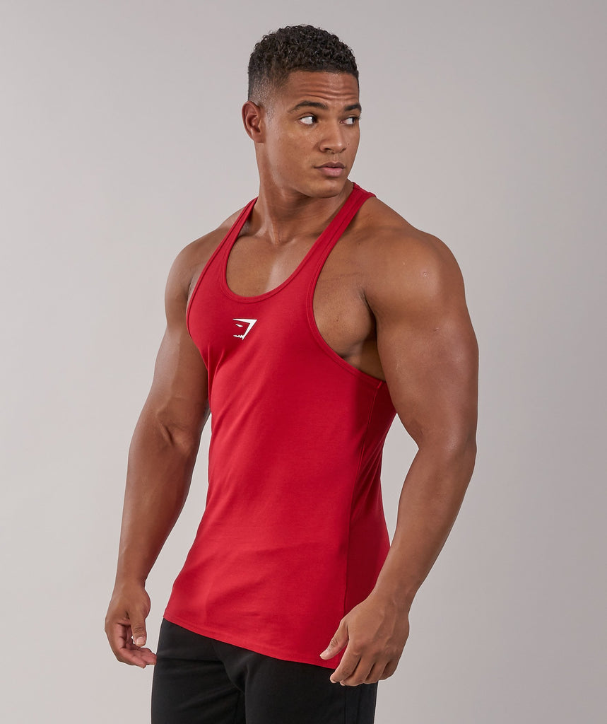 Gymshark Ion Stringer - Deep Red 5