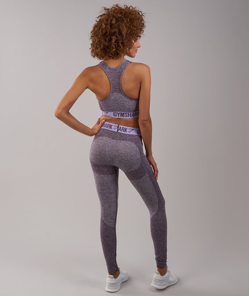 Gymshark Flex Leggings - Purple Wash Marl/Pastel Lilac