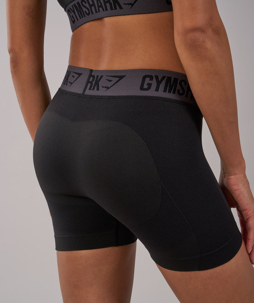 Gymshark Flex Shorts - Black Marl/Charcoal 5