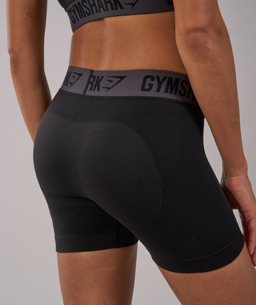 Gymshark Flex Shorts - Black Marl/Charcoal 4