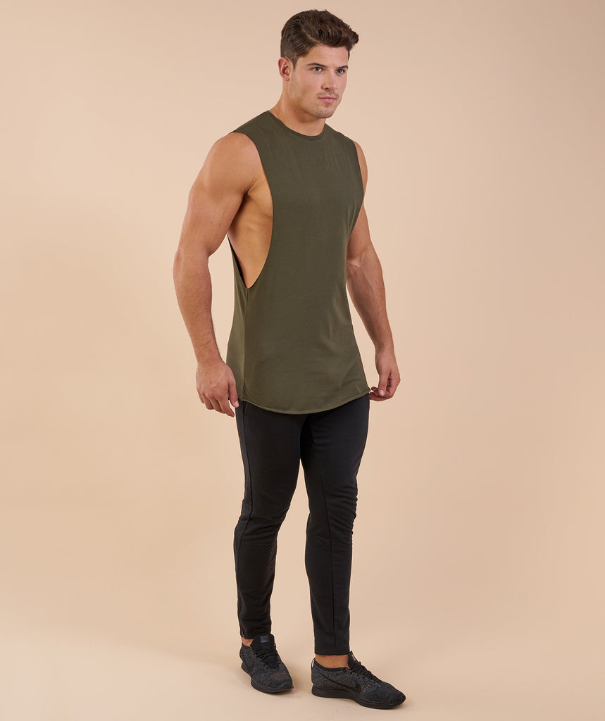 Gymshark Eaze Sleeveless T-Shirt - Alpine Green 2