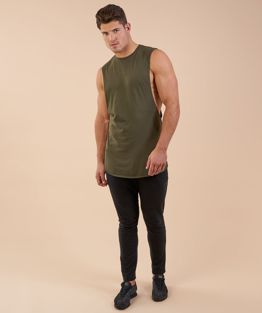 Gymshark Eaze Sleeveless T-Shirt - Alpine Green 1
