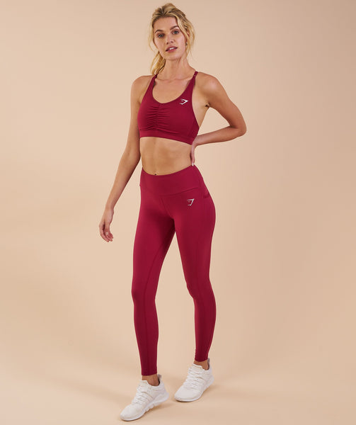 Gymshark Aspire Leggings - Beet 3