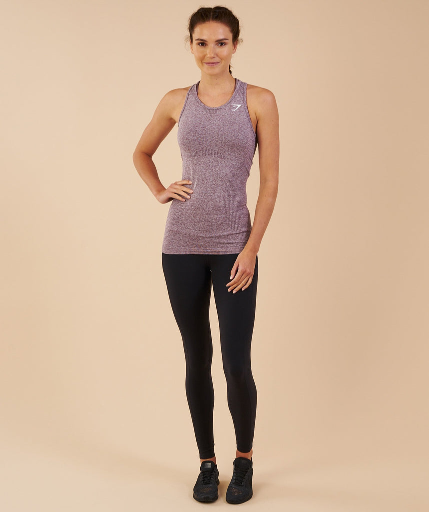 Gymshark Vital Seamless Vest - Purple Wash Marl