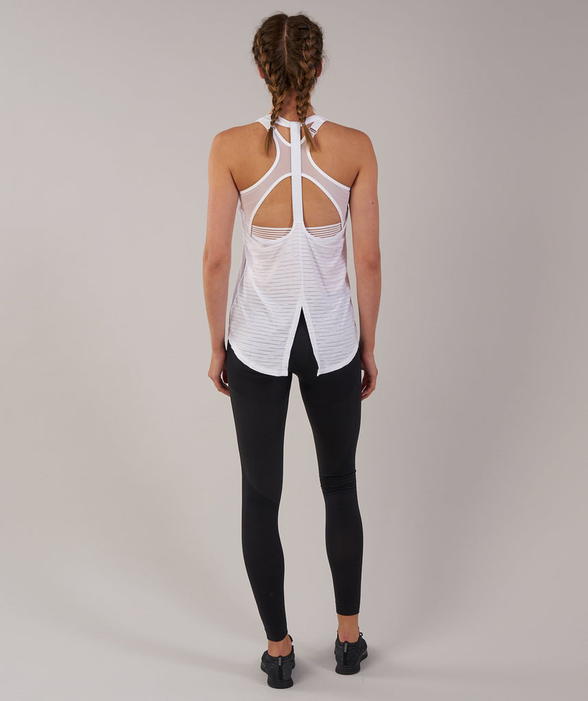 Gymshark T-Bar Vest - White