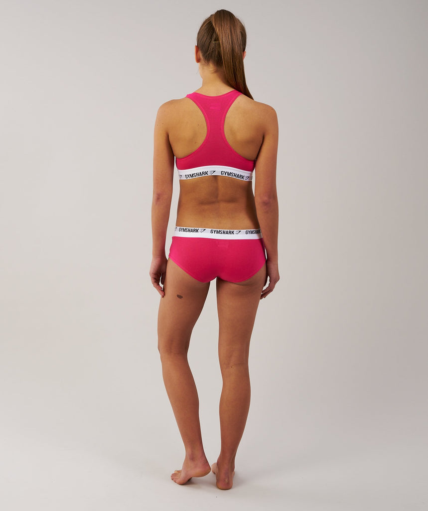 Gymshark Womens Jersey Briefs 2pk - Cranberry 2