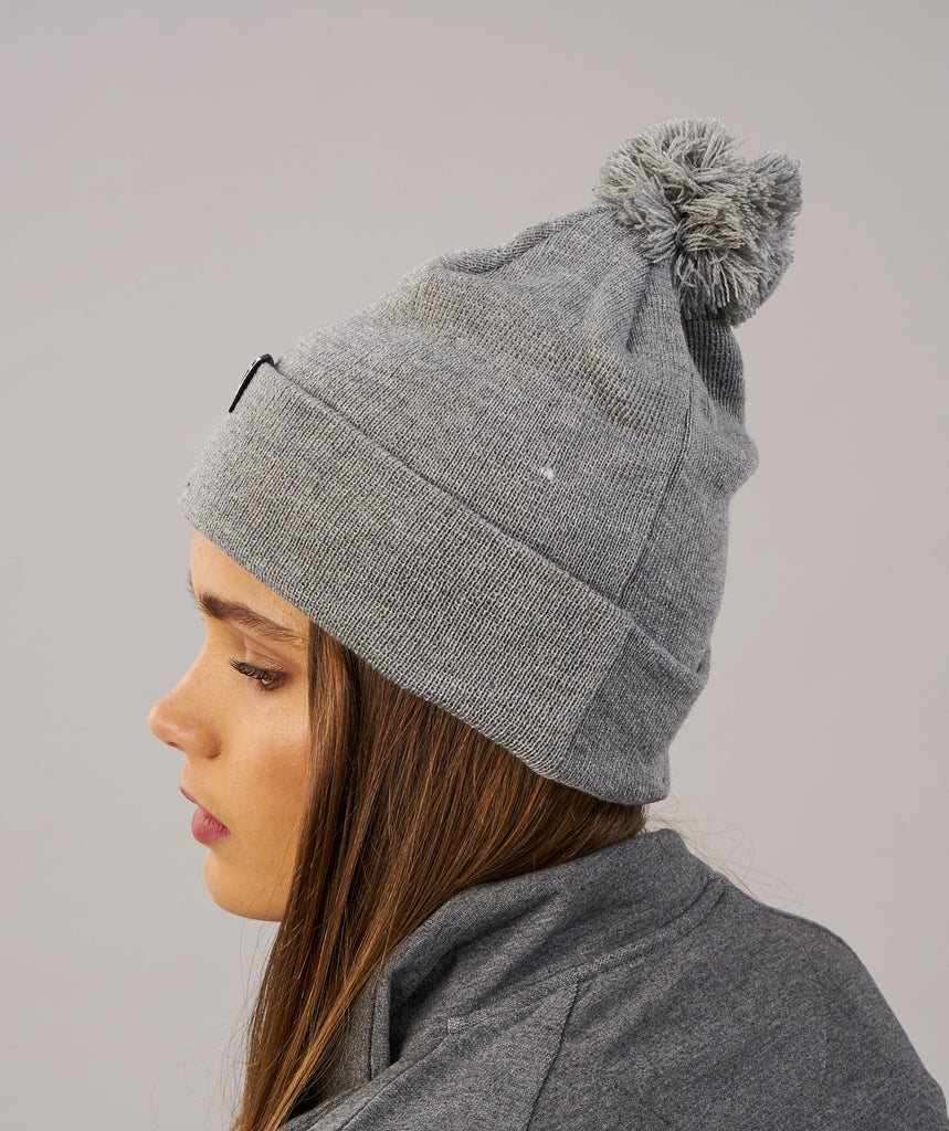 Gymshark Womens Bobble Hat - Light Grey 2