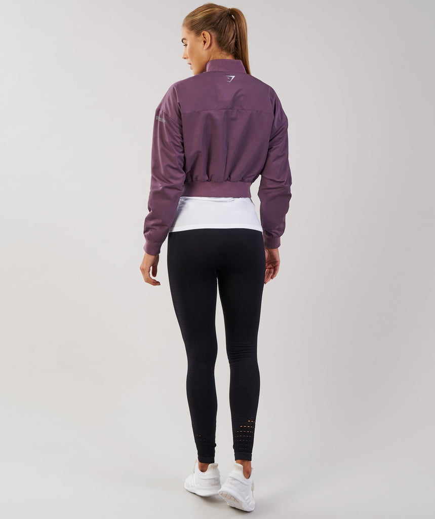 Gymshark Lo Bomber Jacket - Purple Wash 2
