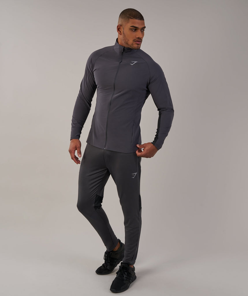 Gymshark Gravity Track Top - Charcoal/Black 1