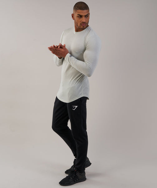 Gymshark Perforated Longline Long Sleeve T-Shirt - Pastel Green 3
