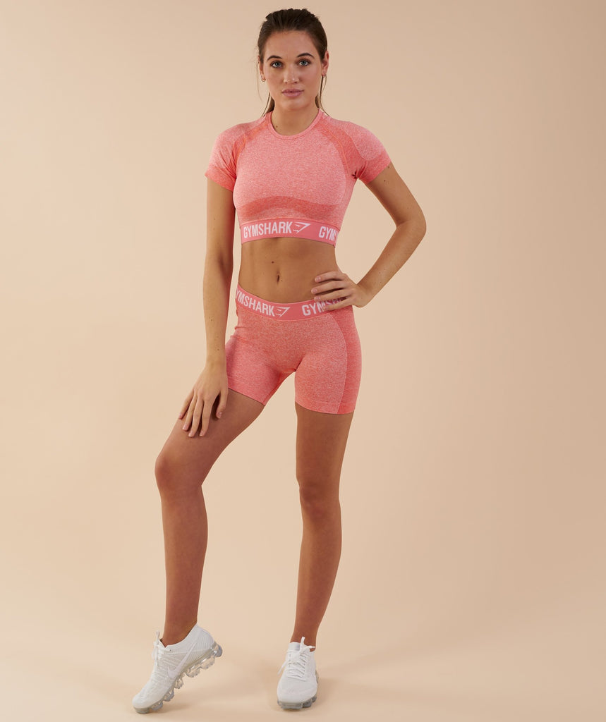 Gymshark Flex Crop Top - Peach Coral 1