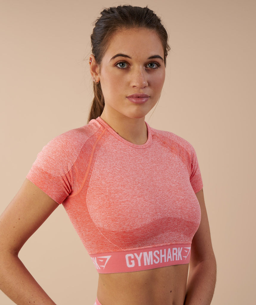 Gymshark Flex Crop Top - Peach Coral 2
