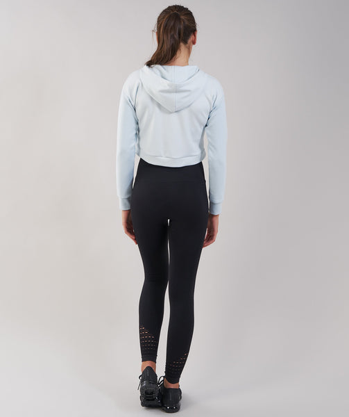 Gymshark Two Tone Cropped Hoodie - Ice Blue 2
