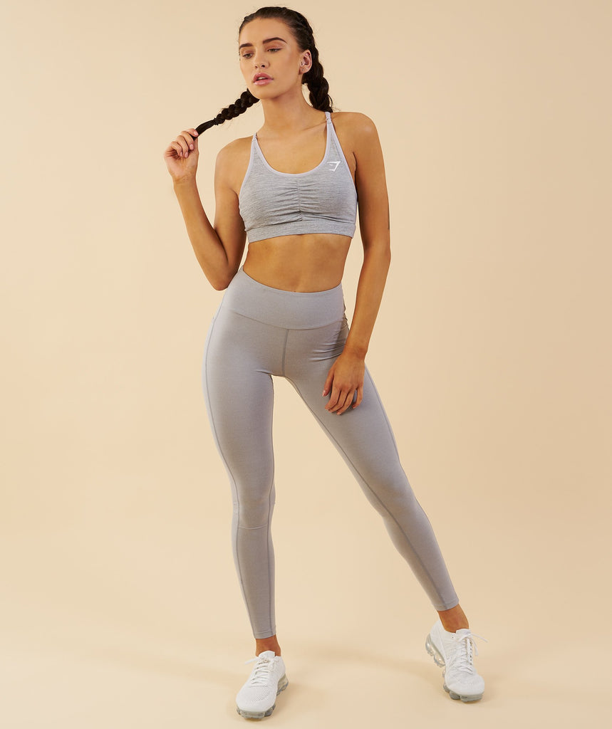 Gymshark Aspire Leggings - Light Grey Marl 6