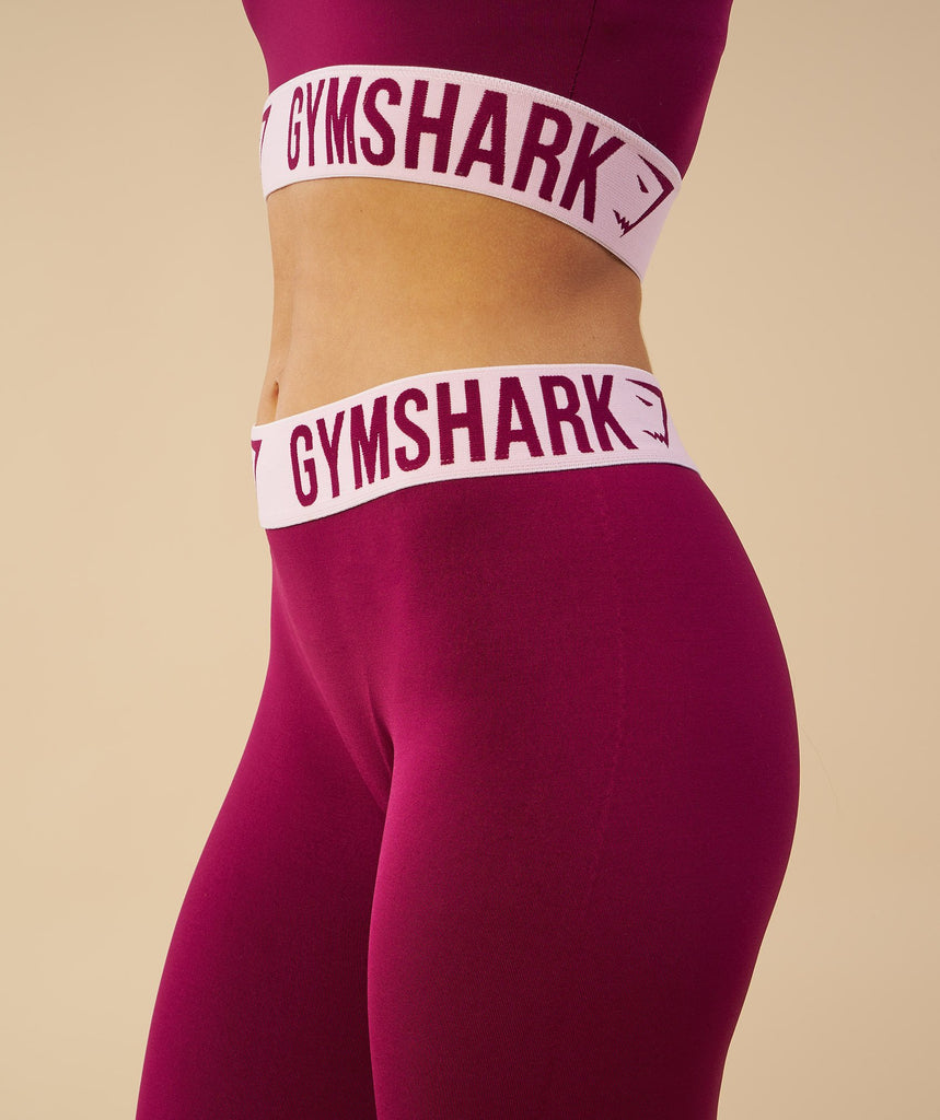Gymshark Fit Sports Bra - Deep Plum/Chalk Pink 6