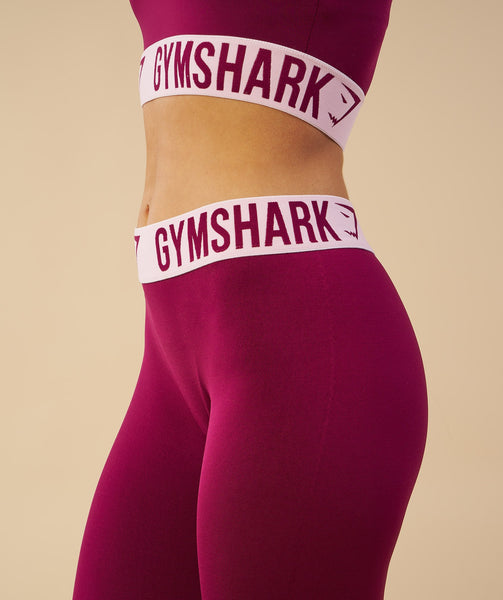 Gymshark Fit Sports Bra - Deep Plum/Chalk Pink 4