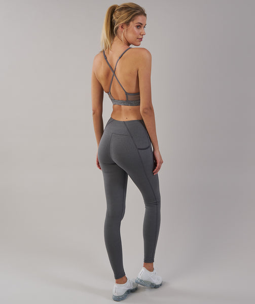 Gymshark Aspire Leggings - Charcoal Marl 1