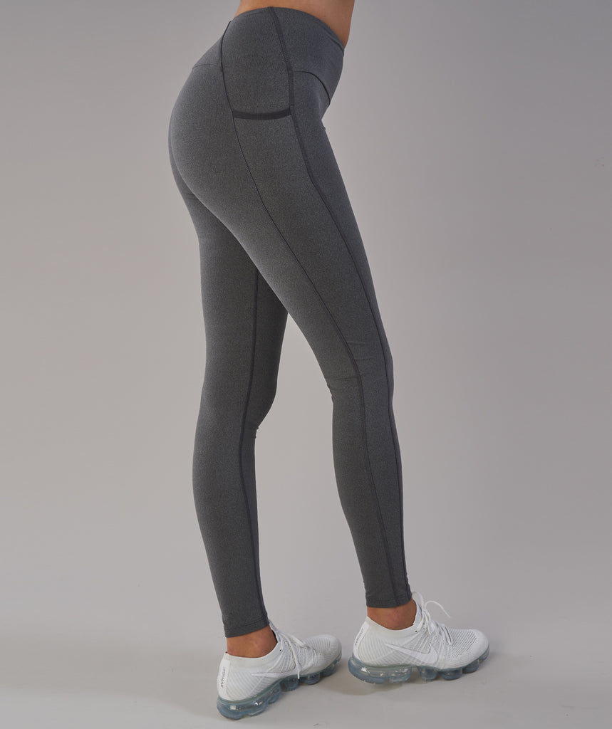 Gymshark Aspire Leggings - Charcoal Marl 6