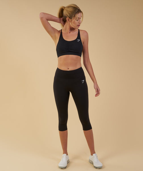 Gymshark Dreamy Cropped Leggings  - Black 4