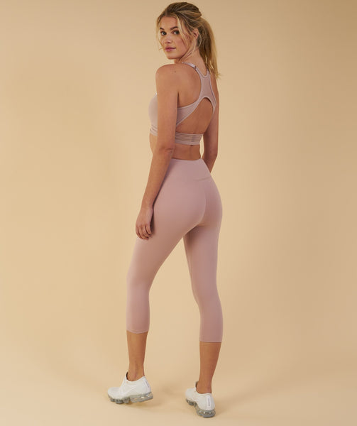 Gymshark Dreamy Cropped Leggings - Taupe 3
