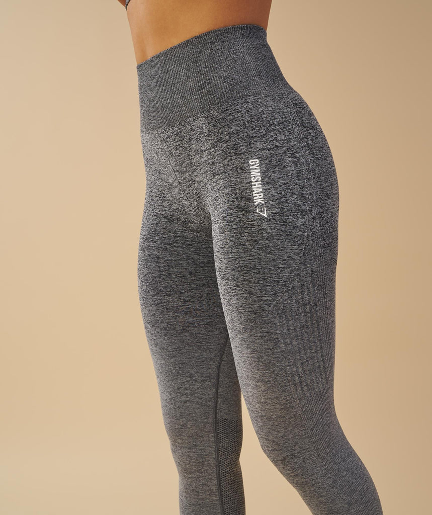 Gymshark Ombre Seamless Leggings  - Black/Light Grey 2