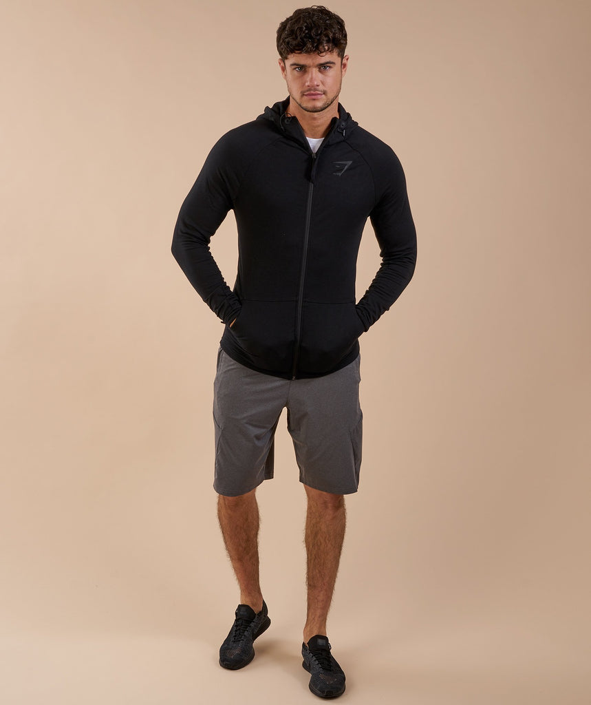 Gymshark Fit Hooded Top - Black 1