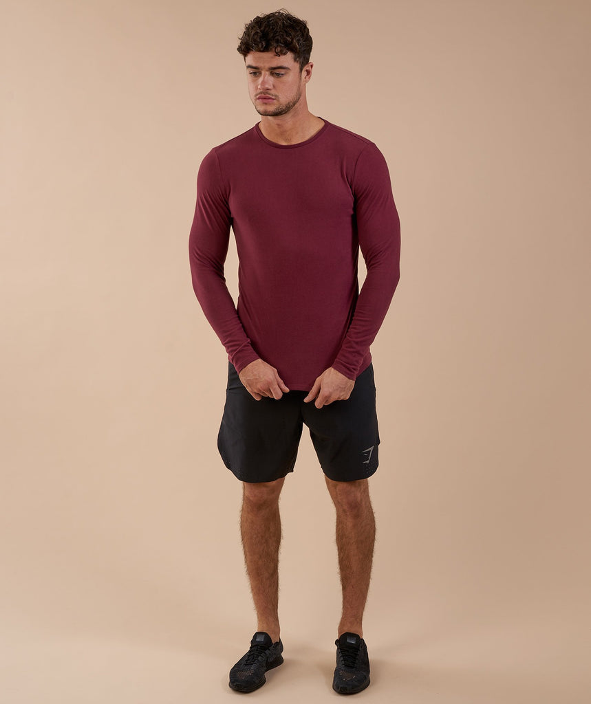 Gymshark Brushed Cotton Long Sleeve T-Shirt - Port 2