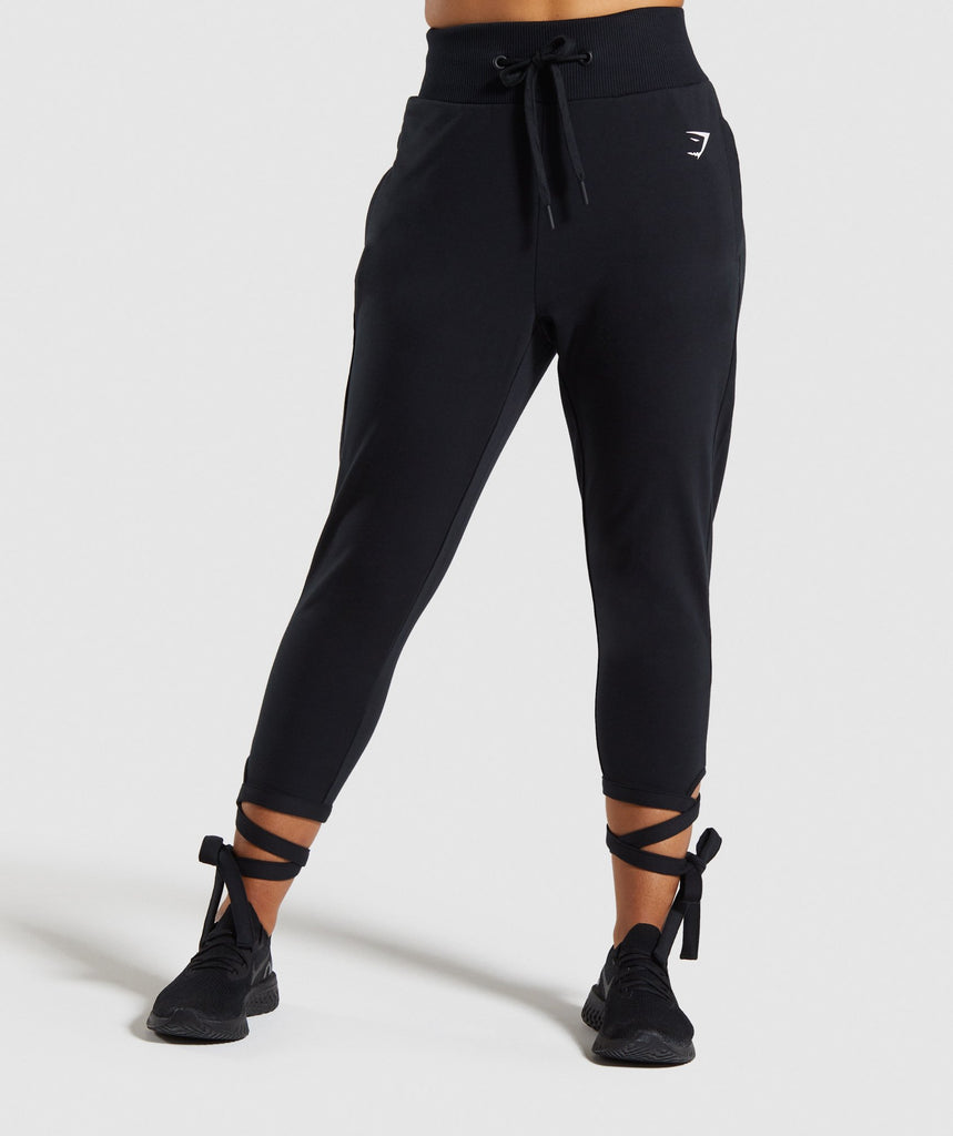 Gymshark Ark High Waisted Joggers - Black 1