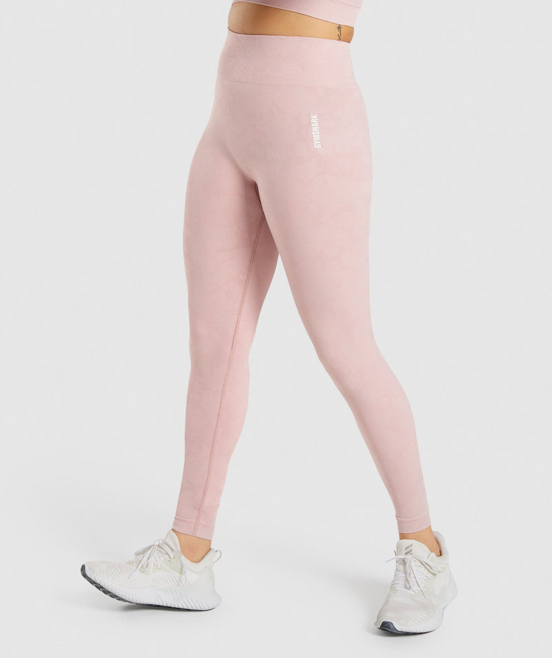 Gymshark Adapt Camo Seamless Leggings - Light Pink