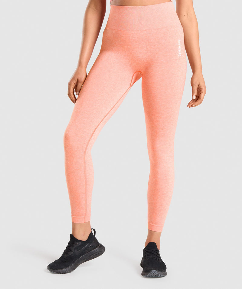 Gymshark Adapt Marl Seamless Leggings - Orange