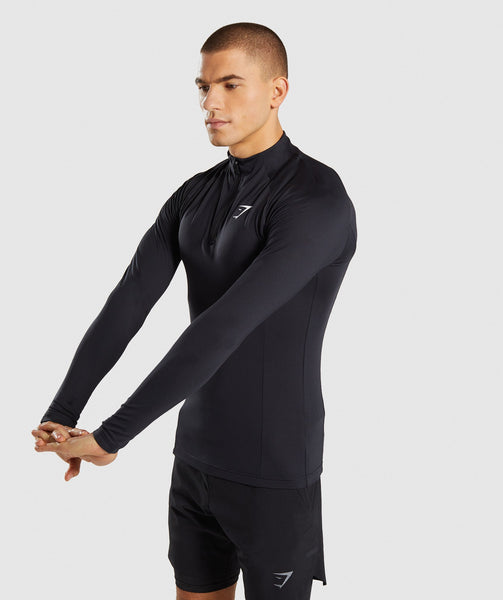 Gymshark Advanced 1/4 Zip Pullover - Black 2