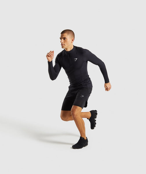 Gymshark Advanced 1/4 Zip Pullover - Black 3