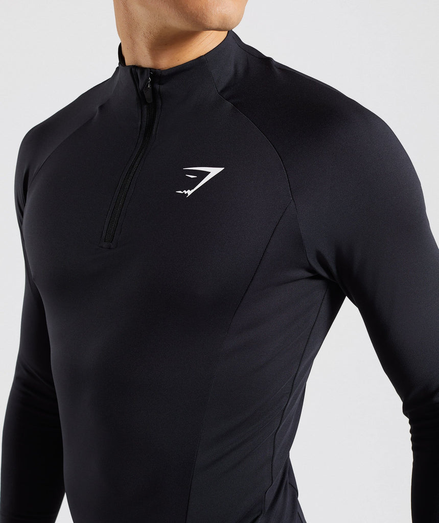Gymshark Advanced 1/4 Zip Pullover - Black 5
