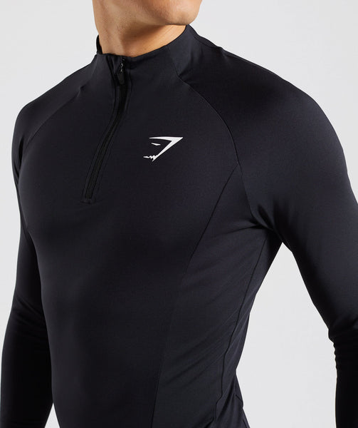 Gymshark Advanced 1/4 Zip Pullover - Black 4