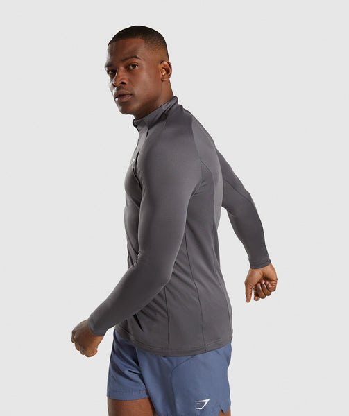 Gymshark Advanced 1/4 Zip Pullover - Charcoal 2