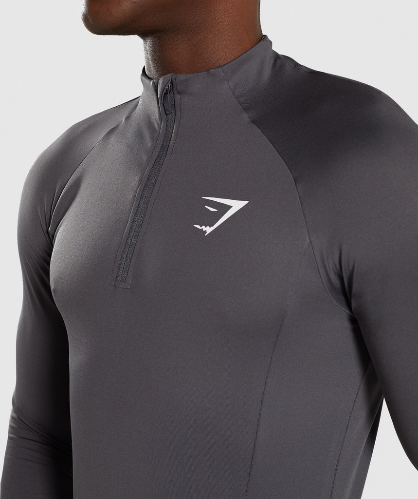 Gymshark Advanced 1/4 Zip Pullover - Charcoal 6