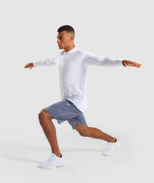 Gymshark Apollo Long Sleeve T-Shirt - White 3