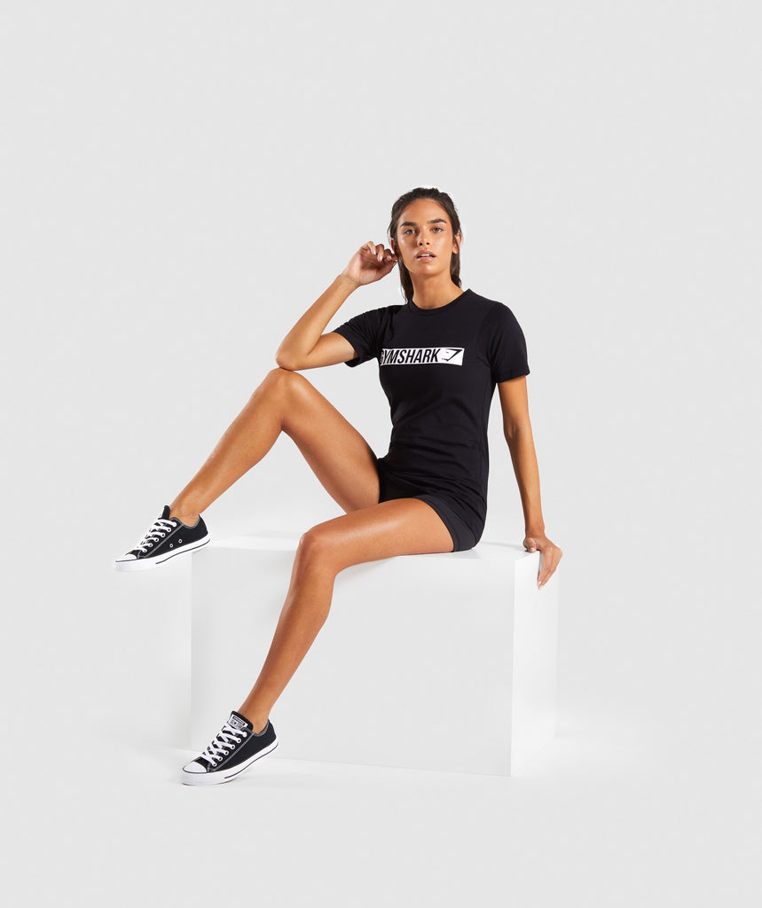 Gymshark Apollo T-Shirt 2.0 - Black/White 6