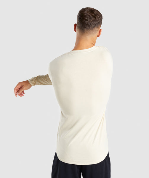 Gymshark Ark Long Sleeve T-Shirt - Warm Beige 1