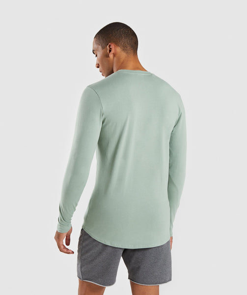 Gymshark Ark Long Sleeve T-Shirt - Pale Green 1