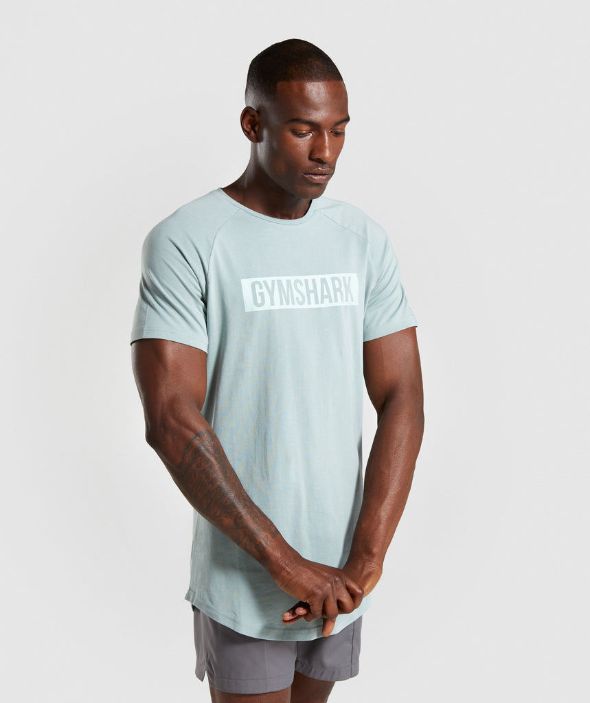 Gymshark Block T-Shirt - Light Blue 1