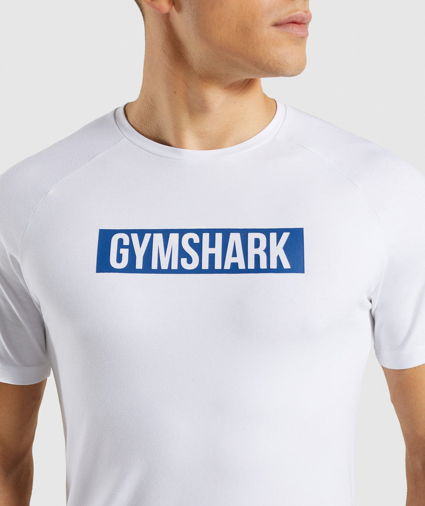 Gymshark Block T-Shirt - White 5