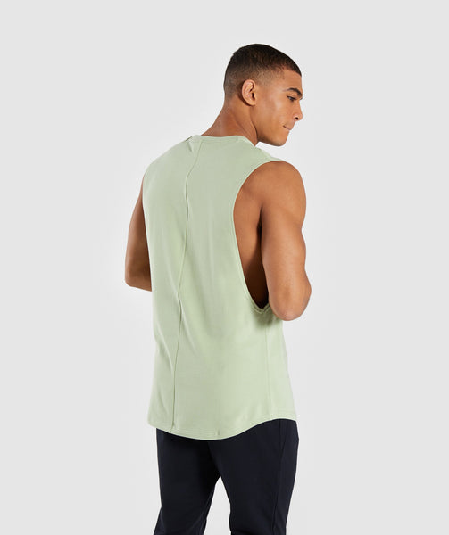 Gymshark Bold Graphic Drop Armhole Tank - Green 1