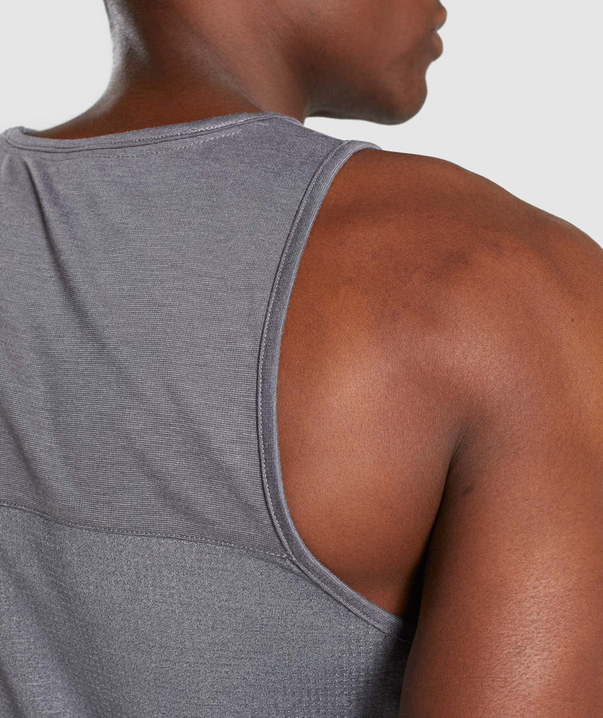Gymshark Breathe Tank - Smokey Grey Marl 5