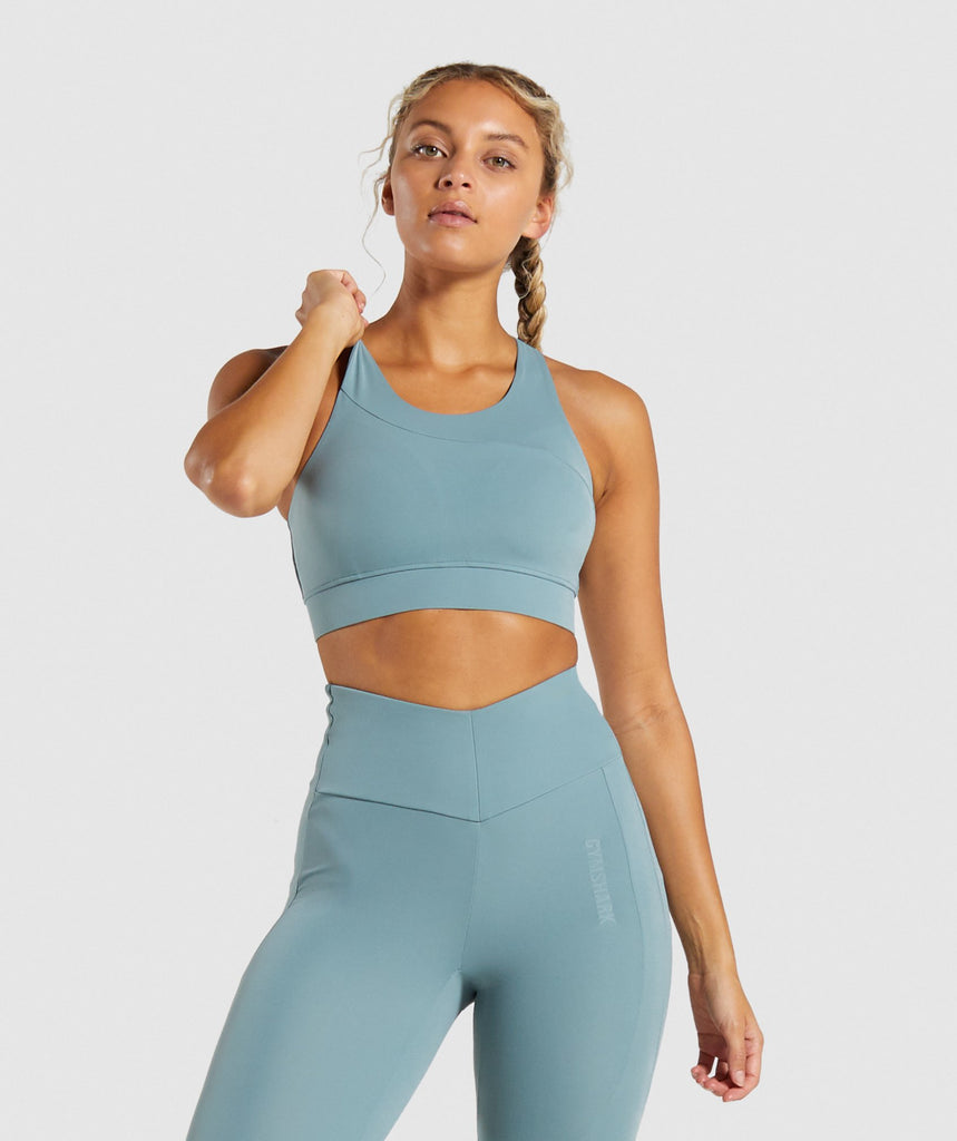 Gymshark Captivate Sports Bra - Turquoise 1