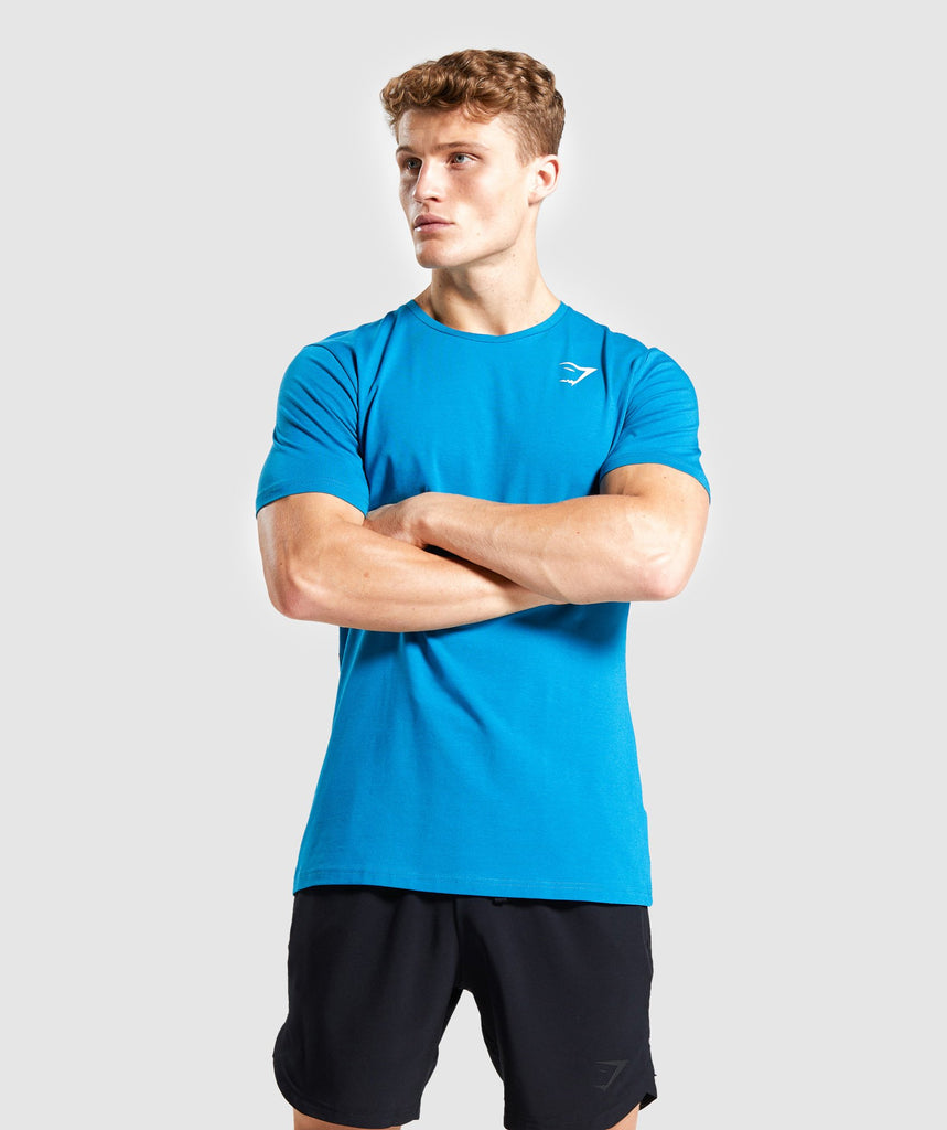 Gymshark Critical T-Shirt - Light Blue 1